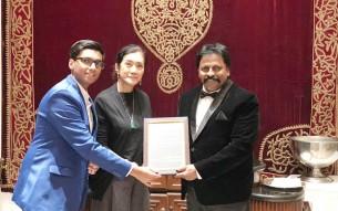 2. Trishaan Shetty,Her Royal Excellency of Thailand Mom LuangRajadarasriJayankura & ChitahYajnesh Shetty at Rembrandt Hotel in Bangkok(File Photo)