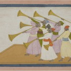 Trumpeters by Nainsukh of Guler purchased by British Museum