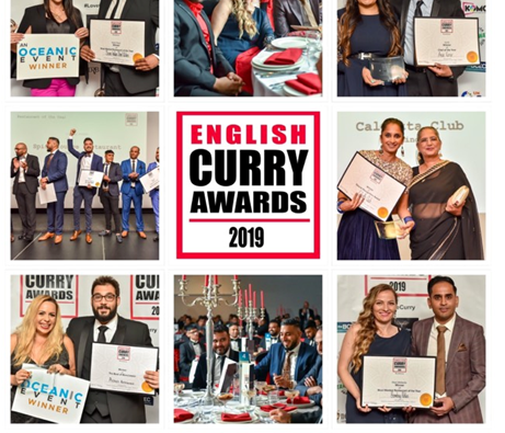 Winners Are Revealed For The 9th English Curry Awards 2019