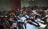 Rohingya and Bangladeshis migrants at Kuala Langsa, Aceh