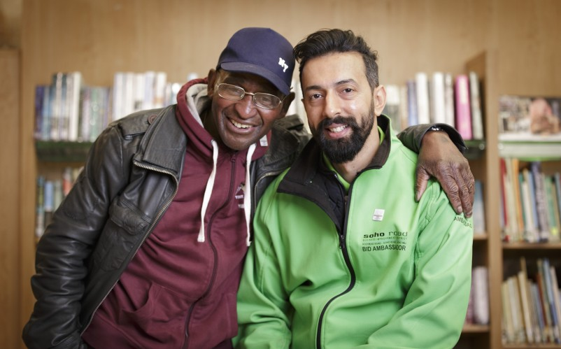 Community Champions: Hector Pinkney and Rakesh at Handsworth Library.