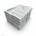 17419646 - newspapers stack