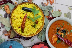 Mysore Chicken Masala with Lemon Rice - Main