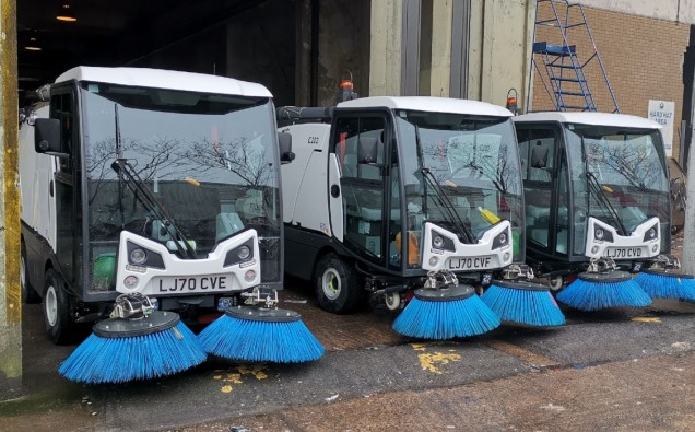 New Street Sweepers at Perry Barr depot - web