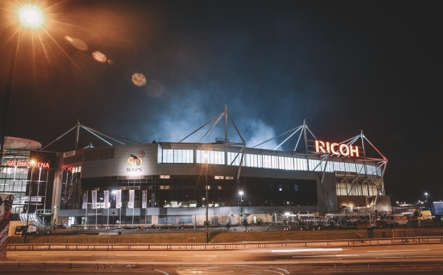 Ricoh Arena at night