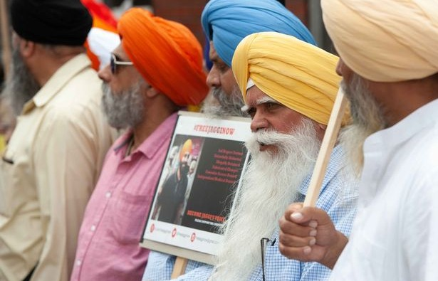 SIKH'S PROTEST IMAGE