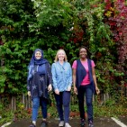 Saphia Khan and Alison Beacham and Claudette Dawson ready for Walk Together Birmingham 02