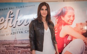 Vaani Kapoor at Befikre Press Conference in London 2016-Photography by Javed Moahmmed