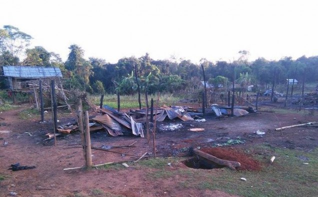 Wan Pang Karng village which was burned down by Burma Army