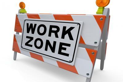 Work zone, men at work, construction_0