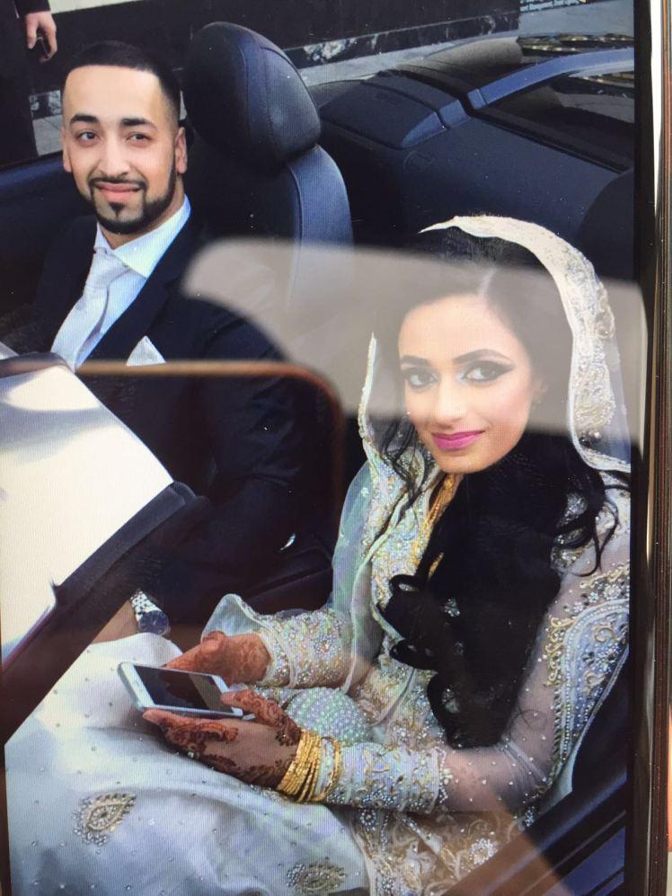 wedding day car crash
