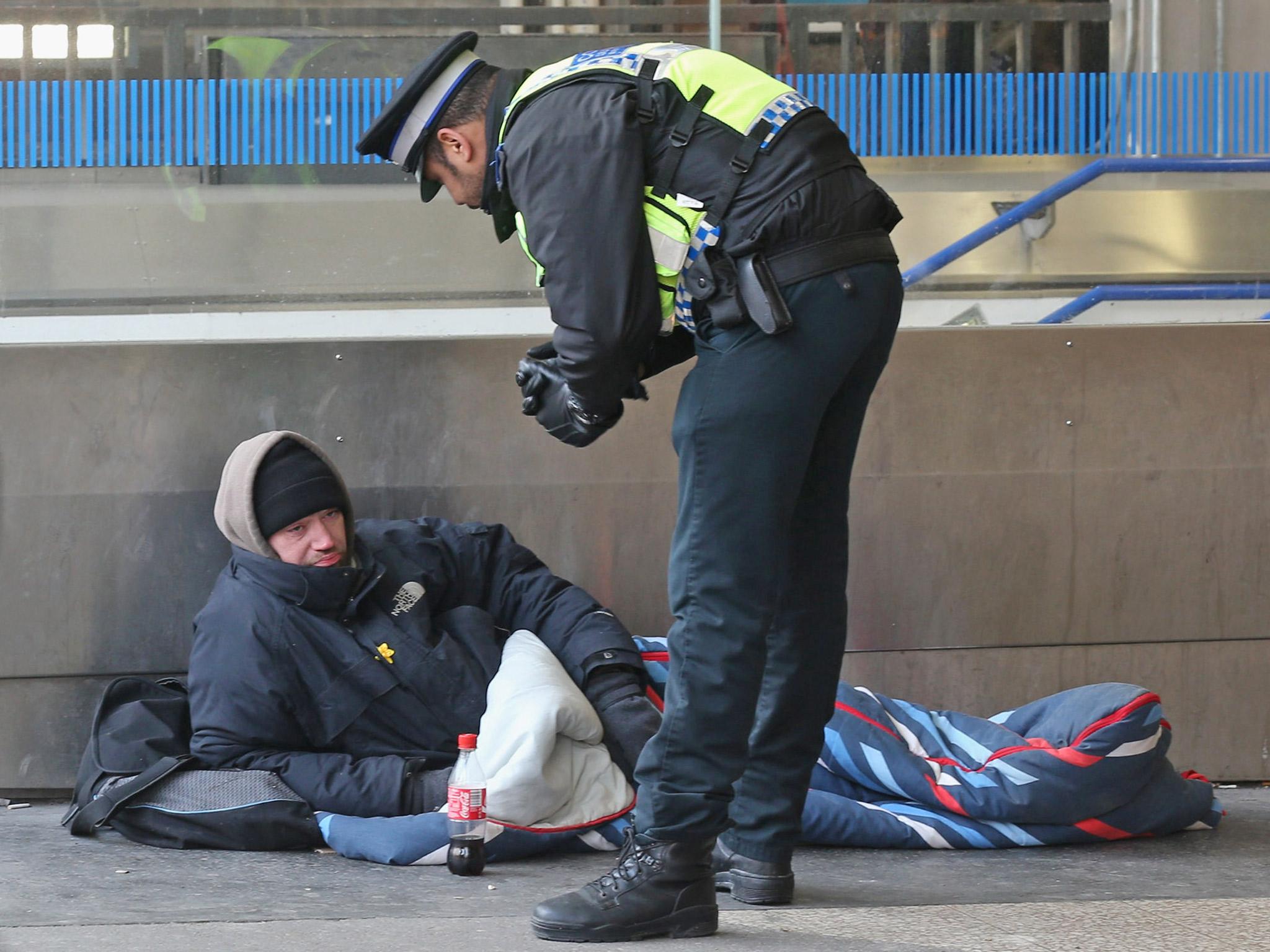 Homeless vet beaten