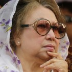BNP Chairperson Khaleda attends a rally in Dhaka